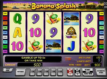 Автоматы с бонусом Banana Splash